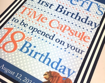 First Birthday Time Capsule- Little Bear Theme