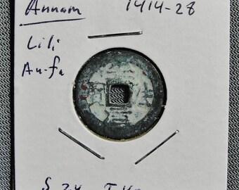 Annam (Vietnam) Li Li An Fa 1414-26 AD, Cash Coin (a)