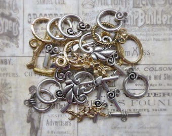 14 Assorted Toggle Clasps for Necklaces and Bracelets