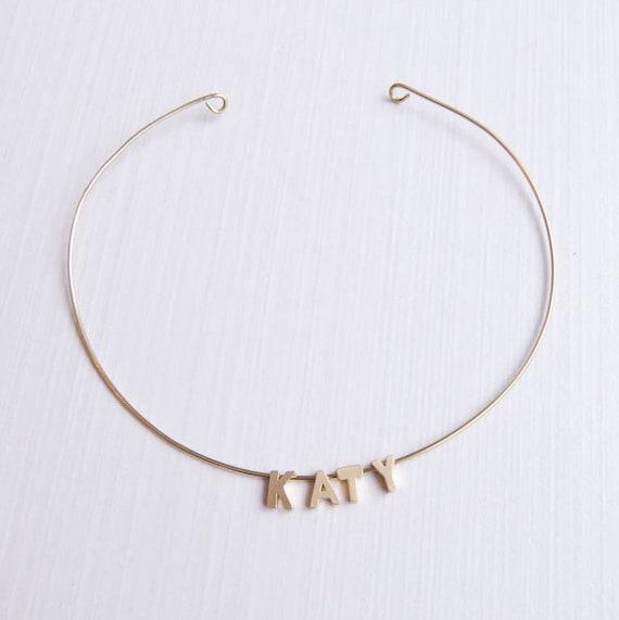 Custom Gold Wire Choker