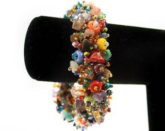 Multicolored Beaded Bracelet for Women