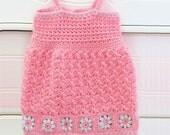 Crochet Baby Dress Pattern, Crochet Baby Sundress Pattern, Crochet Baby Jumper Pattern, Daisy Mae Sundress
