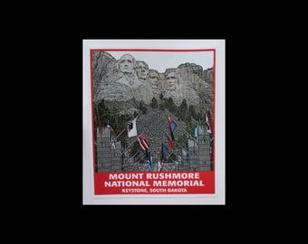 Mt. Rushmore sticker / Mount Rushmore National Memorial / South Dakota