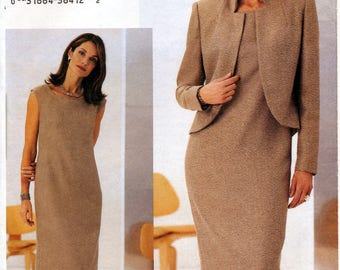 The Vogue Woman 7715 Sewing Pattern for Misses' Jacket and Dress - Uncut - Size 12, 14, 16