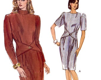 Vogue 7664 Sewing Pattern for Misses' Dress - Uncut - Size 14, 16, 18