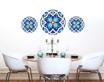 Mandala Wall Decal Decor Round Decals Dining Room Moroccan