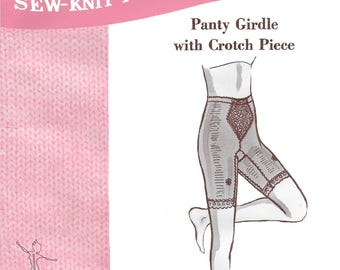 Sew-Knit-N-Stretch 206 Ladies 60s Panty Long Leg Girdle Tummy Control Sewing Pattern Size Size S to EXL. Waist 26 to 36 Hip 36 to 45 1/2