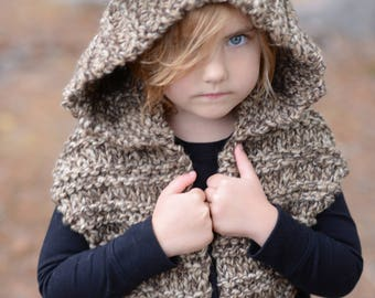 KNITTING PATTERN - Levan Lynx Hood (Toddler - Child - Teen - Adult sizes)