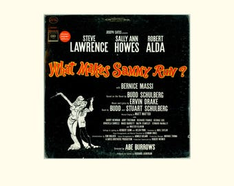 What Makes Sammy Run? Original Broadway Cast Recording, Steve Lawrence, Sally Ann Howes, Robert Alda Music by Ervin Drake, Vintage LP Record