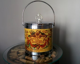 Old Map Ice Bucket, Ice Bucket, Vintage Ice Bucket, Travel Theme Ice Bucket