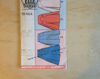 1960's French A-Line Skirt Pattern by Patron Elle Boutique 19464 Closed in packet - EU Sizes 38 - 52