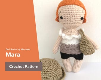 Mara | Pattern, One Piece Doll Pattern, Crochet Doll Pattern, Amigurumi Pattern, Pdf Pattern