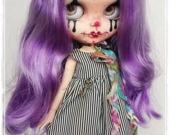 HYACINTHE Gothic Clown Blythe custom doll by Antique Shop Dolls