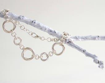Elegant Silver Chainmaille Bracelet