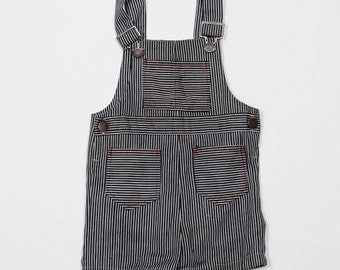 1980s Kid's Vintage Handmade Overall Shorts | Toddler Unisex | 4DD