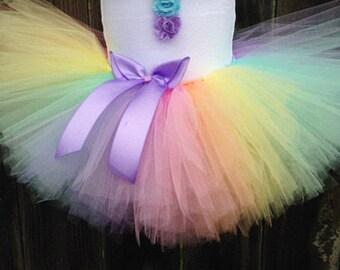Pastel Rainbow Tutu