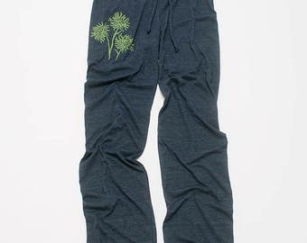 burst of Mums Long Yoga Pants, Flower Pants, Wide Leg Pants, Maternity Pants, S,M,L,XL