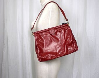 50s 60s Red Patent Leather Purse with Original tags