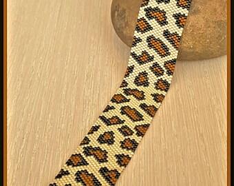 Panthère de bracelet peyote