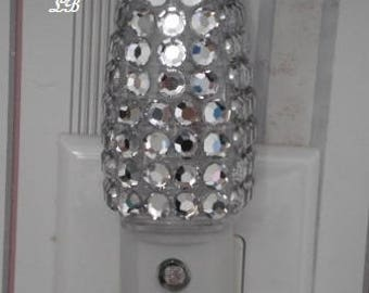 BLING NIGHT LIGHT w/ Clear Rhinestones - Energy saving, automatic on/off, clear led lighting