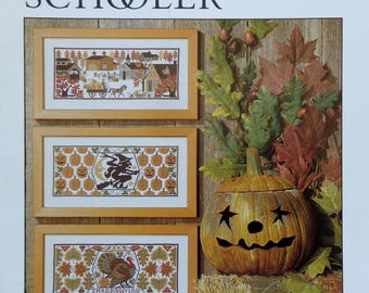 Cross Stitch Pattern | HARVEST TIME | The Prairie Schooler | Book No. 93 | Counted Cross Stitch Pattern | Out Of Print