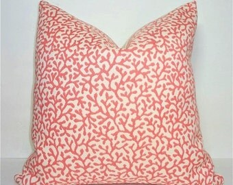 INVENTORY REDUCTION Rose Pink Coral Nautical Design Home Decor by HomeLiving Pillow Cover Size 18x18