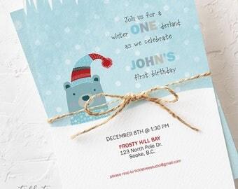 Birthday Party Invitations - Winter Wonderland (Style 13483)