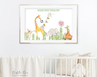 Art Print - Whimsical Animal Parade (W00042)
