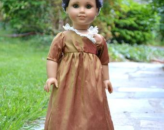 Doll Dress Regency Silk Wrap for American Girl 18 inch doll Caroline Josephina