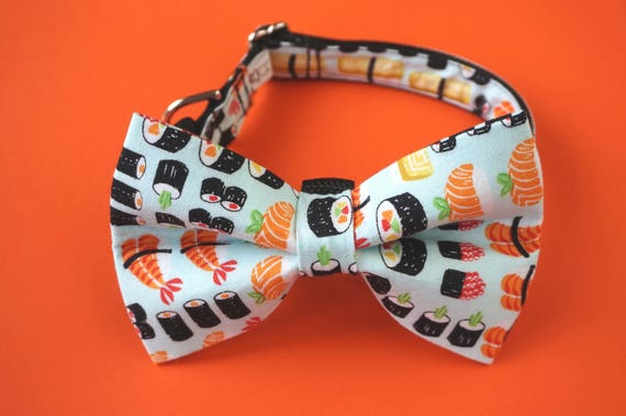 Sushi Dog Bow Tie and Collar