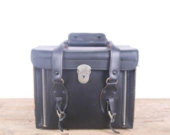 Vintage Black SLR Camera Bag / Old Camera Bag / Vinyl Camera Case / Antique Camera Case / Old Camera Case / DSLR Camera Case Polaroid Case
