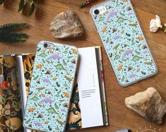 Dinosaur Phone Case, Dinosaur iPhone Case, Dinosaur Samsung, Cute Dinosaur Gifts, Dinosaur Pattern, Dinosaur Gift, For Dinosaur Lovers