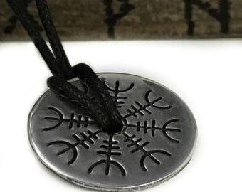 Helm of Awe Necklace - Silver - Helm of Awe - Viking Protection - Aegishjalmur - Viking Jewelry - Norse Pendant - Pagan - Asatru