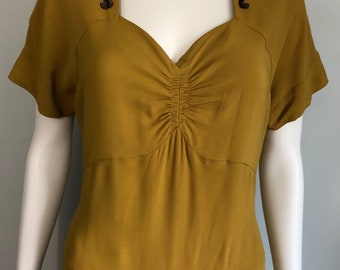 Mustard 1940's Crepe Dress