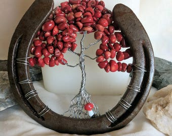 Red Horseshoe Tree of Life with Mushroom