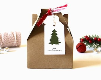 Personalized Christmas Gift Tags - (Set of 10) - Christmas Tags, Christmas Gift Wrap, Christmas, Custom Christmas Tags, Christmas Tree