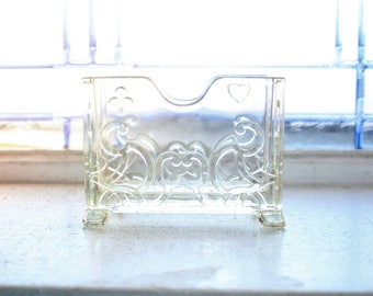 Antique Glass Business Card Holder