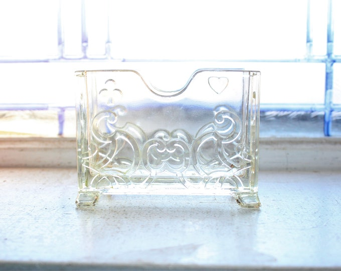 Antique Glass Business Card Holder