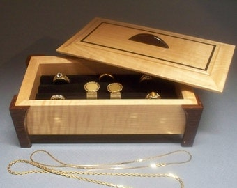 Ring Jewelry Box, Ring Storage, Ring Holder, Ring Organizer,Box For Ring Storage, Made In The USA.