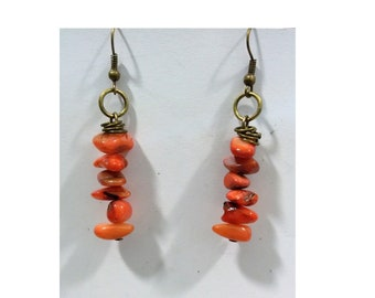 Agate earrings,