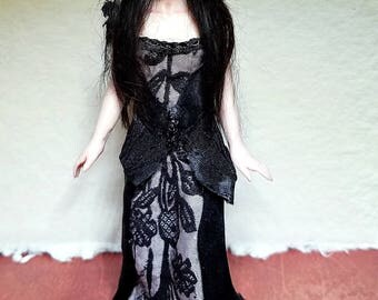 OOAK Hand Sculpted 1:12 Dollhouse Scale Wiccan Art Doll Collectable