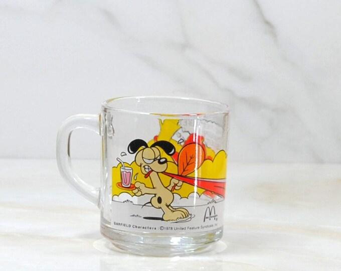 Vintage Garfield, McDonalds, Cup, 1980, Odie, Children's Cartoon, Comedy, Happy Meal Toy, Vintage McDonalds, Cat, Dog, Vintage Garfield