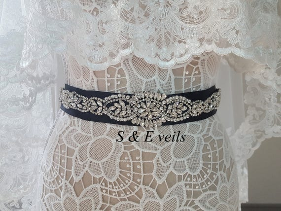 Black Wedding Belt