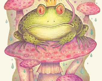 The Frog Prince - A4 Art print