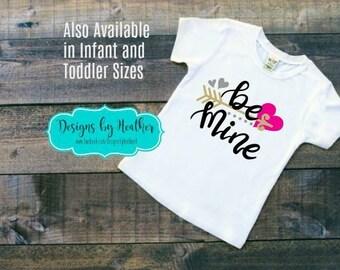 Valentine's Shirt - Toddler and Youth - Be Mine T-Shirt - Kid's Valentine Shirt