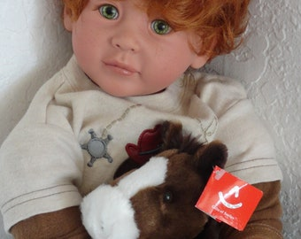 "Reborn 22"" Toddler Boy Doll ""Ian"" - Cowboy Adventures"