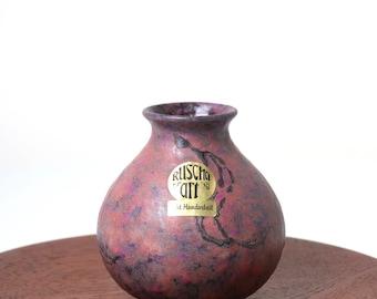Ruscha Keramik Fat Lava vase - 70s 80s West German pottery vase - dusty pink purple mauve glaze - retro home decor