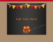 Thanksgiving Chalkboard Sign, Printable Thanksgiving Photo Prop, Thanksgiving Decor DIY Chalkboard Decor, First Thanksgiving Decor 8x10 Sign