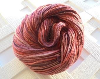 Handdyed Yarn GRAND CANYON SUNSET Indie-Dyed Yarn, dk-Weight Yarn, Mulberry Silk Yarn, Bombyx Silk Yarn, 2-Ply Silk Yarn, 100% Silk, Knit