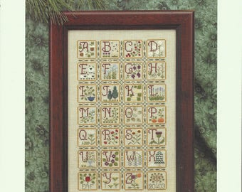 """Clearance-""""Nature's Alphabet"""" Counted Cross Stitch by Elizabeth's Designs"""